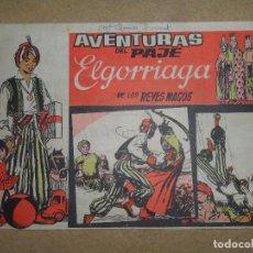 Tebeos Números 1: AVENTURAS DEL PAJE ELGORRIAGA DE LOS REYES MAGOS Nº 1 - 1962. Lote 105997071