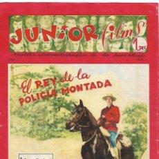 Tebeos Números 1: JUNIOR FILMS, AÑO 1.946. Nº 1. ORIGINAL REVISTA CINEMATOGRÁFICA DE LA JUVENTUD EDITORIAL BAGUÑA. Lote 119323527