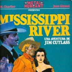 Tebeos Números 1: JIM CUTLASS 1 - MISSISSIPI RIVER - DE CHARLIER Y GIRAUD - COL. METAL Nº 1 - ED. NUEVA FRONTERA 1980. Lote 131061436