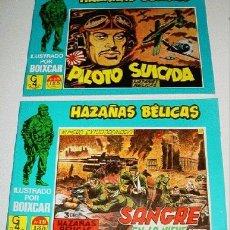 Tebeos: LOTE DE 2 COMICS HAZAÑAS BELICAS - ILUSTRADO POR BOIXCAR - NUMERO 19-18 - REEDICION.. Lote 2105233