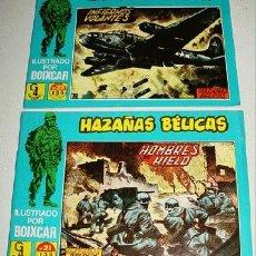 Tebeos: LOTE DE 2 COMICS HAZAÑAS BELICAS - ILUSTRADO POR BOIXCAR - NUMERO 22-21 - REEDICION.. Lote 2105238