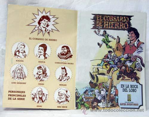 Tebeos: El Corsario de Hierro nº4 En la boca de lobo Edición Histórica Ediciones B 1987 - Foto 2 - 10381282