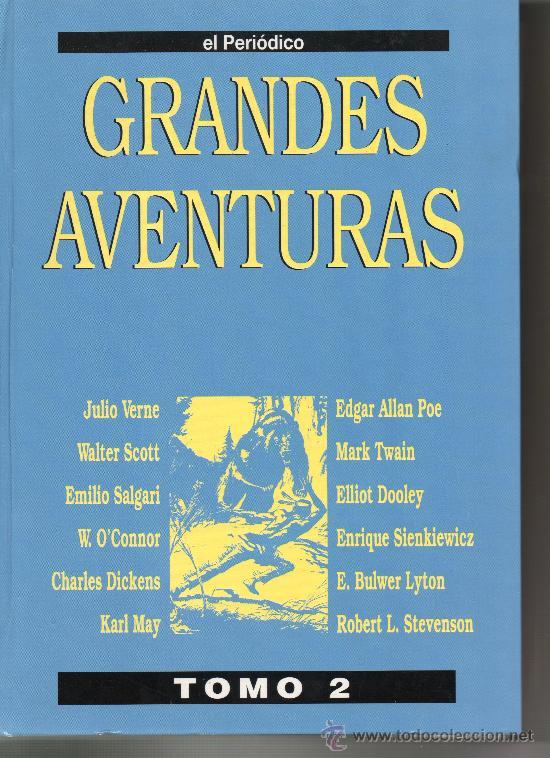 GRANDES AVENTURAS. TOMO 2. JULIO VERNE. EMILIO SALGARI. WALTER SCOTT. EL PERIÓDICO. COMIC. COMICS. (Tebeos y Comics - Tebeos Reediciones)