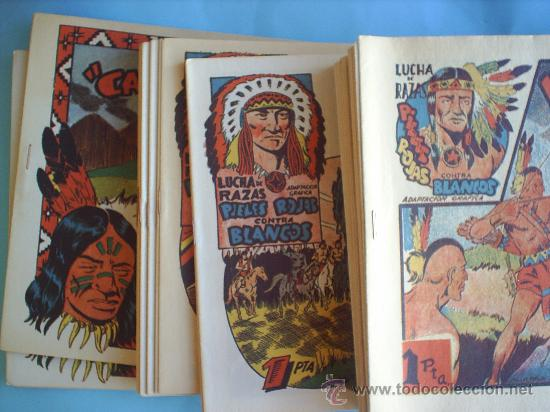 Tebeos: lucha de razas , completa 60 numeros, . las tres aventuras , , reedicion fascimil - Foto 3 - 36655405