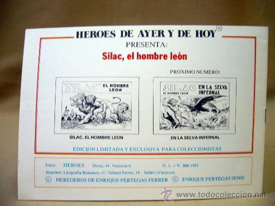 Tebeos: COMIC, SILAC, COLECCION COMPLETA, 8 NUMEROS, HEROES EDICIONES, REEDICION - Foto 3 - 28921104