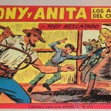 Tebeos: IÑI COMIC TEBEO. TONY Y ANITA. Nº 153. TOBY RESCATADO. FACSIMIL. LOTE ÉPSILON.. Lote 35724612