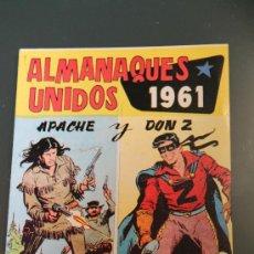 Tebeos: APACHE Y DON Z ALMANAQUES UNIDOS 1961. Lote 38228399