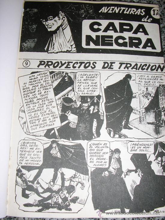 Tebeos: AVENTURAS DE CAPA NEGRA - TOMO Nº 2 (Historias 9 a 17) - ESPAÑA - COMO NUEVO - Foto 2 - 38438927