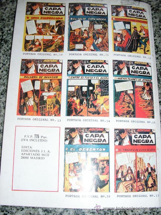 Tebeos: AVENTURAS DE CAPA NEGRA - TOMO Nº 2 (Historias 9 a 17) - ESPAÑA - COMO NUEVO - Foto 4 - 38438927
