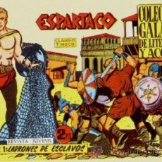 Tebeos: ESPARTACO (GALAOR, 1964) 26 Nº COMPLETA REEDICION. Lote 47278520