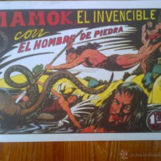Tebeos: MAMOK EL INVENCIBLE CON EL HOMBRE DE PIEDRA, REEDICIÓN DE GRAN CALIDAD. Lote 44660674