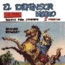 Tebeos: EL DEFENSOR NEGRO REEDICION (PRIMERA SERIE DEL 1 AL 40) NUEVA!!MEDIDAS ORIGINALES !!. Lote 222128328