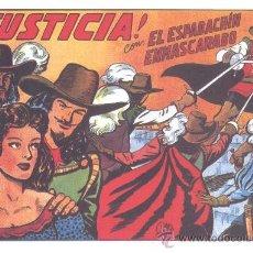 Tebeos: COMIC EDICIÓN FACSIMIL -¡JUSTICIA! - EL ESPADACHIN ENMASCARADO. Lote 49081899