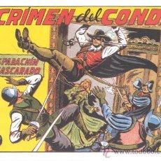 Tebeos: COMIC EDICIÓN FACSIMIL -EL CRIMEN DEL CONDE - EL ESPADACHIN ENMASCARADO. Lote 49081919