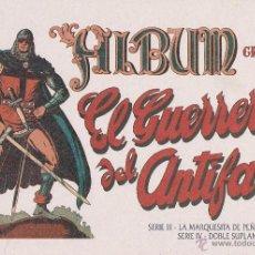 Tebeos: ALBUM DEL GUERRERO ANTIFAZ CON LOS CROMOS SERIE I ,(COMPLETA),RESTO SERIGRAFIADOS.. Lote 76847891