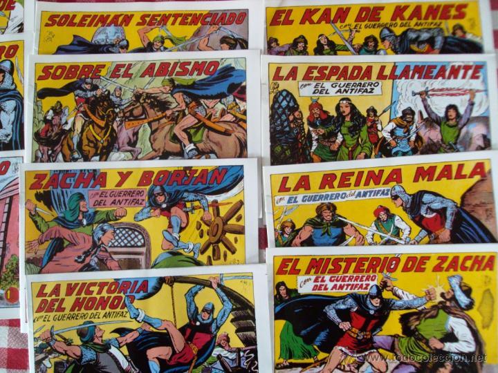 LOTE COMIC EL GUERRERO DEL ANTIFAZ EDITO VALENCIANA REEDICION NUEVOS (Tebeos y Comics - Tebeos Reediciones)