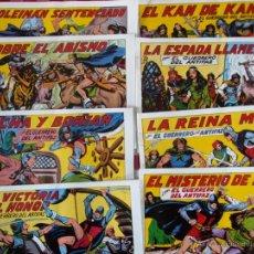 Tebeos: LOTE COMIC EL GUERRERO DEL ANTIFAZ EDITO VALENCIANA REEDICION NUEVOS. Lote 53084041