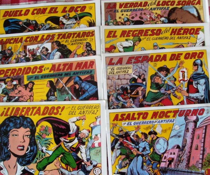 Tebeos: Lote Comic El guerrero del antifaz Edito Valenciana reedicion NUEVOS - Foto 3 - 53084041