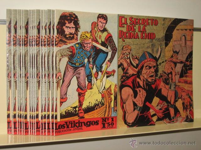 LOS VIKINGOS COMPLETA 17 NUMS. EDITORIAL MATEU REEDICION OFERTA CON EL Nº 17 NUNCA ANTES REEDITADO (Tebeos y Comics - Tebeos Reediciones)