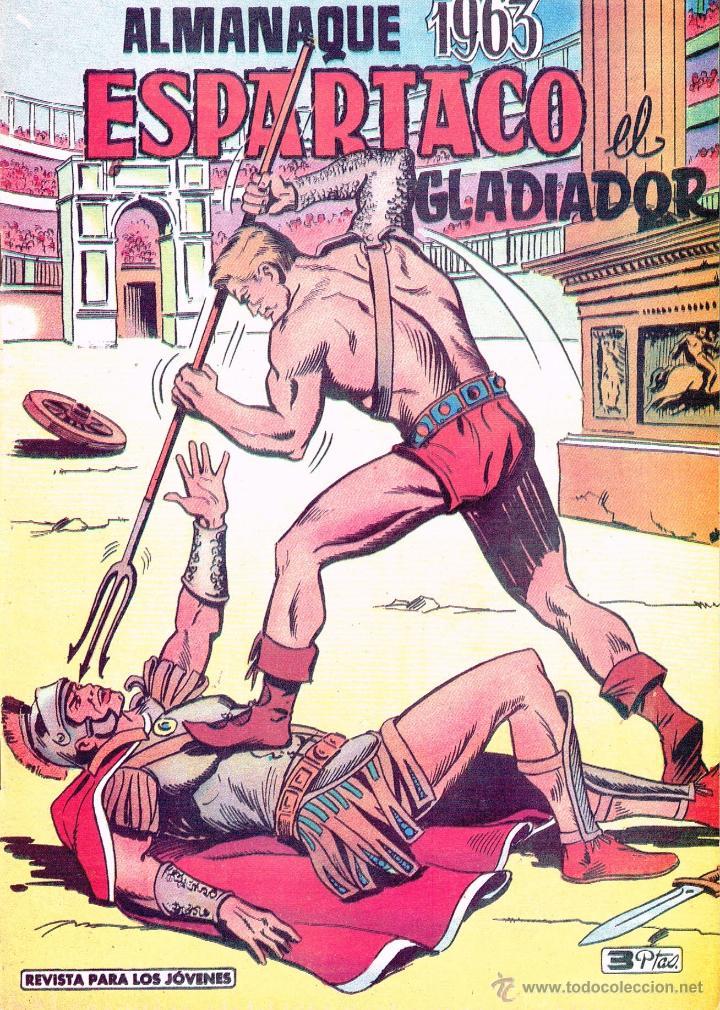 ALMANAQUE 1963.ESPARTACO EL GLADIADOR.REEDICIÓN (Tebeos y Comics - Tebeos Reediciones)