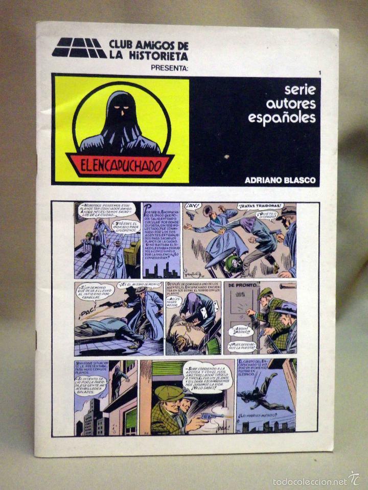 TEBEO O COMIC, EL ENCAPUCHADO, CLUB AMIGOS DE LA HISTORIETA (Tebeos y Comics - Tebeos Reediciones)