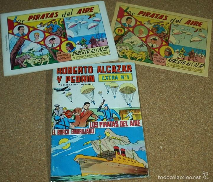 ROBERTO ALCAZAR Nº 1 LOTE DE 3 TEBEOS - Nº 1 EXTRA - Nº 1 EDIC 1981 - Nº 1 REEDICION DE COMIC MAN (Tebeos y Comics - Tebeos Reediciones)