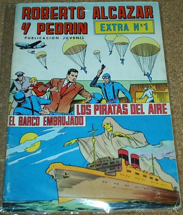 Tebeos: ROBERTO ALCAZAR Nº 1 LOTE DE 3 TEBEOS - Nº 1 EXTRA - Nº 1 EDIC 1981 - Nº 1 REEDICION DE COMIC MAN - Foto 2 - 56109003