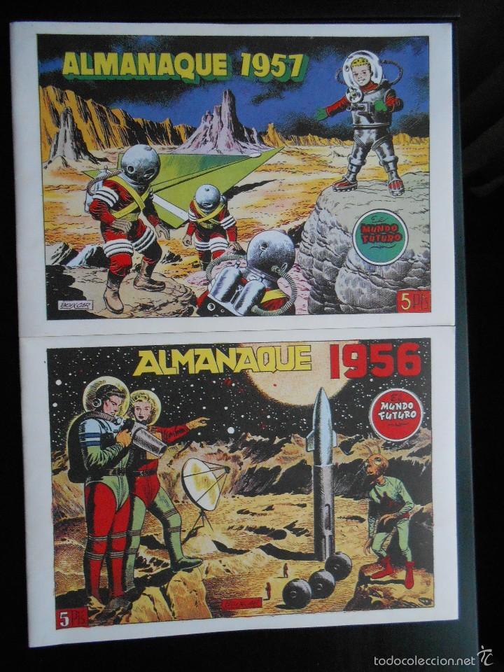 LOTE 2 TEBEOS / CÓMIC NUEVOS ALMANAQUE 1956 Y 1957 DE MUNDO FUTURO TEBEO NUEVO TORAY (Tebeos y Comics - Tebeos Reediciones)