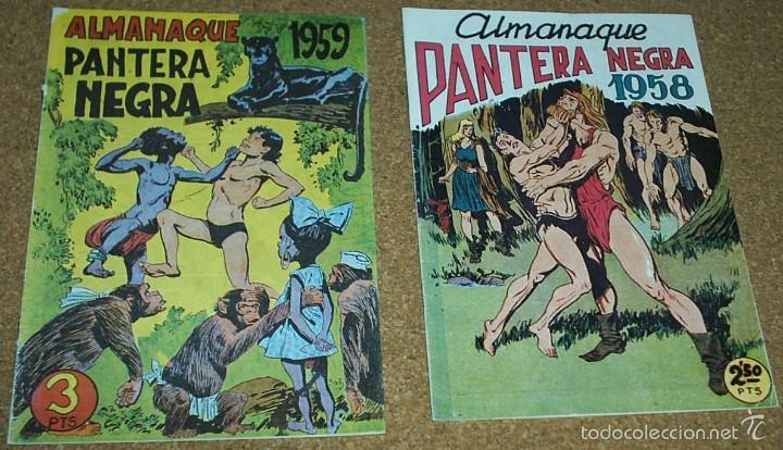 ALMANAQUES PANTERA NEGRA 1958,- 59.- - REEDICION DE LOS 80 EN PERFECTO ESTADO (Tebeos y Comics - Tebeos Reediciones)