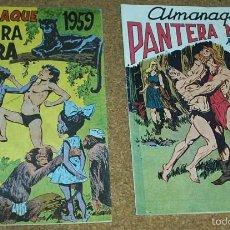 Tebeos: ALMANAQUES PANTERA NEGRA 1958,- 59.- - REEDICION DE LOS 80 EN PERFECTO ESTADO. Lote 58392681