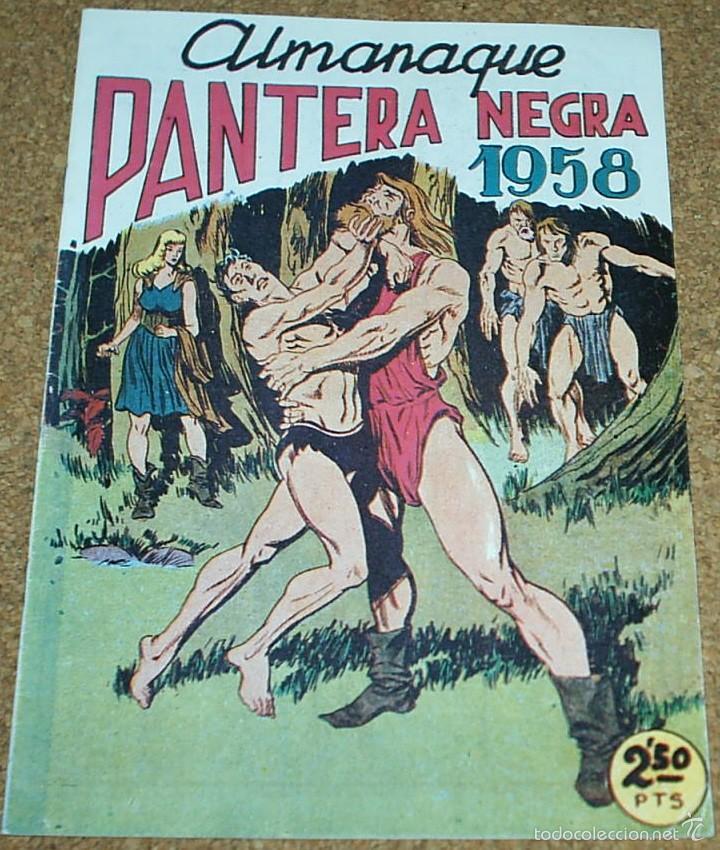 Tebeos: ALMANAQUES PANTERA NEGRA 1958,- 59.- - REEDICION DE LOS 80 EN PERFECTO ESTADO - Foto 2 - 58392681