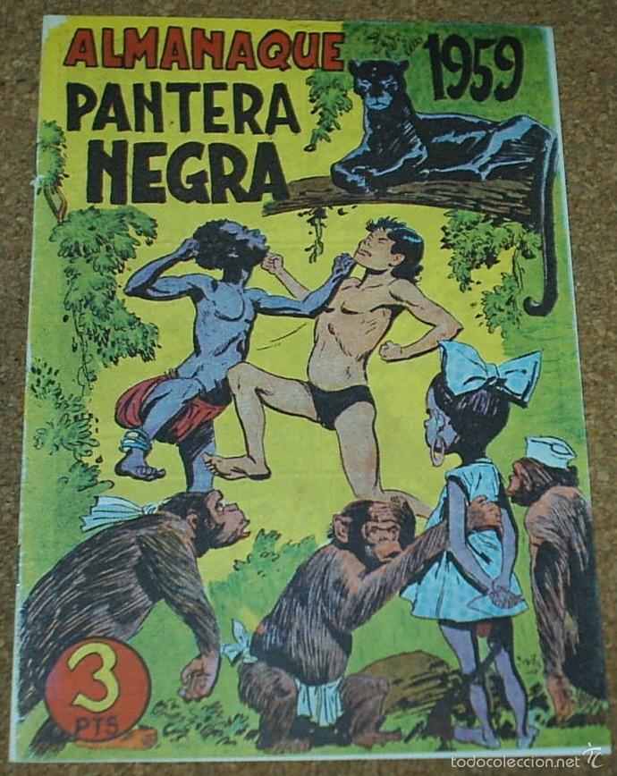 Tebeos: ALMANAQUES PANTERA NEGRA 1958,- 59.- - REEDICION DE LOS 80 EN PERFECTO ESTADO - Foto 3 - 58392681