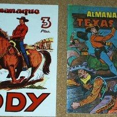 Tebeos: ALMANAQUES BILL CODY 1952 Y TEXAS BILL 1956- - REEDICION DE LOS 80 EN PERFECTO ESTADO. Lote 58392742