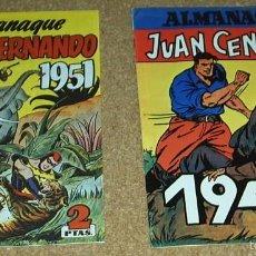 Tebeos: ALMANAQUES JORGE Y FERNANDO 1951 Y JUAN CENTELLA 1947 - REEDICIONES -PERFECTO ESTADO- VER. Lote 58392859