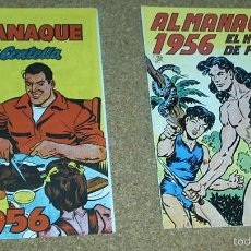 Tebeos: ALMANAQUES HOMBRE DE PIEDRA 1956 Y JUAN CENTELLA 1956 - REEDICIONES -PERFECTO ESTADO-. Lote 58392872