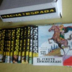 Tebeos: HACHA Y ESPADA.58 NÚMEROS,COMPLETA. REEDICIÓN .PERFECTA.. Lote 72762331