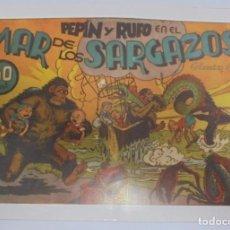 Tebeos: TEBEO. PEPIN Y RUFO EN EL MAR DE LOS SARGAZOS. COLECCION AUDAZ. REEDICION. Lote 95180807