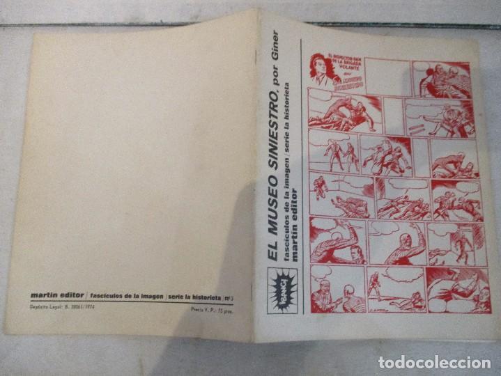 Tebeos: COMIC COLECCION SERIE AUTORES ESPAÑOLES EUGENIO GINER INSPECTOR DAN EL MUSEO SINIESTRO CAH - Foto 2 - 99159875