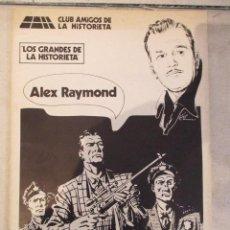 Tebeos: ALEX RAYMOND MONOGRAFICO LOS GRANDES DE LA HISTORIETA CAH. Lote 99161607