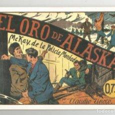Tebeos: SELECCIÓN AVENTURERA EDITORIAL VALENCIANA EL ORO DE ALASKA CUADERNO DE REEDICIÓN. Lote 108209174