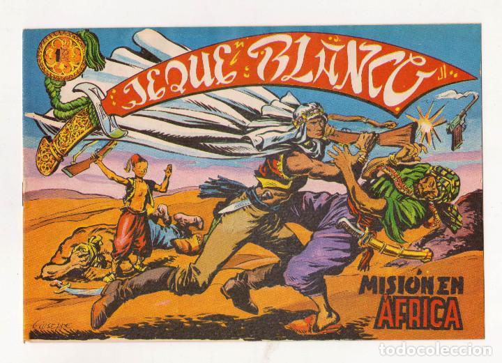 REEDICIÓN FACSIMIL - JEQUE BLANCO - NÚMERO 1: MISIÓN EN ÁFRICA - PERFECTO ESTADO (Tebeos y Comics - Tebeos Reediciones)