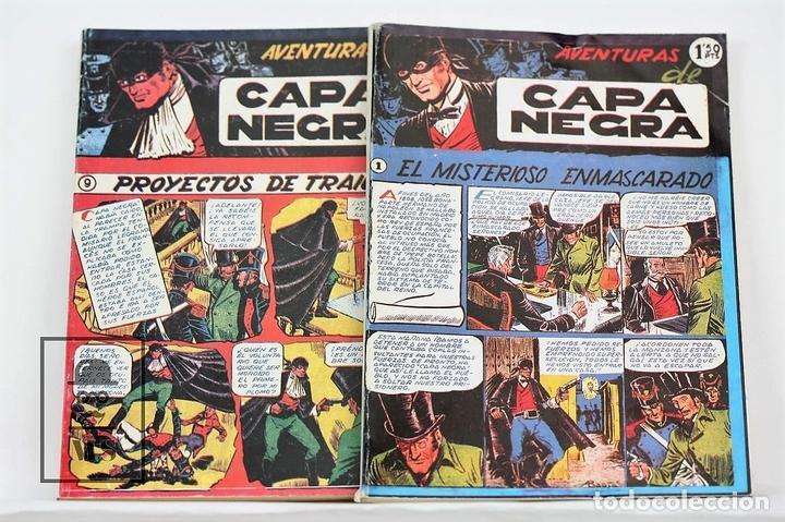 CÓMIC - LAS AVENTURAS DE CAPA NEGRA / 2 TOMOS, COMPLETA - ED. J.L.A (Tebeos y Comics - Tebeos Reediciones)