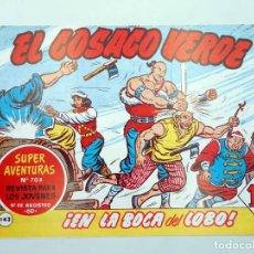 BDs: EL COSACO VERDE 143. EN LA BOCA DEL LOBO (MORA / COSTA) HEREDEROS M. GAGO, 1990. FACSIMIL. Lote 121036854