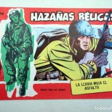 BDs: HAZAÑAS BÉLICAS 316. LA LLUVIA MOJA EL ASFALTO (SIMMONS) COMIC MAM, 1990. FACSIMIL. Lote 121037214