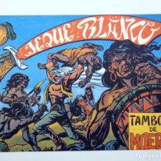 BDs: JEQUE BLANCO 11. TAMBORES DE MUERTE (NO ACREDITADO) ANDINA, 1982. FACSIMIL. Lote 150816485