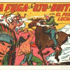 Tebeos: LA FUGA DE OJO DE BUITRE CON EL PEQUEÑO LUCHADOR. Nº 142. REEDICION. Lote 132082223