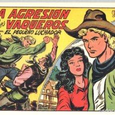 Tebeos: LA AGRESION DE LOS VAQUEROS CON EL PEQUEÑO LUCHADOR. Nº 225. REEDICION. Lote 132082563