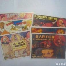 Tebeos: REEDICION BARTON EL GLADIADOR DEL ESPACIO - SELECCIÓN AVENTURERA - VALENCIANA 1941, COMPLETA 6 EJ. Lote 133745146