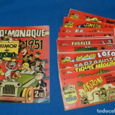 Tebeos: (M) COLECCION COMPLETA + ALMANAQUE HUMOR DE BOLSILLO 18 NUMEROS + ALMANAQUE 1951 , BUEN ESTADO. Lote 176064283