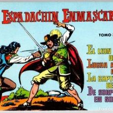 Tebeos: EL ESPADACHIN ENMASCARADO. TOMO 3. REEDICION. COMPRENDE LOS NUM. 9 AL 12. Lote 147326970